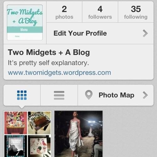 Two Midgets + A Blog finally got an Instagram account! @twomidgets