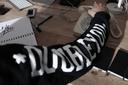 doubleyouclothing:  DY Sleeve Print Crew Jumper - Online Now! www.doubleyouclothing.co.nz