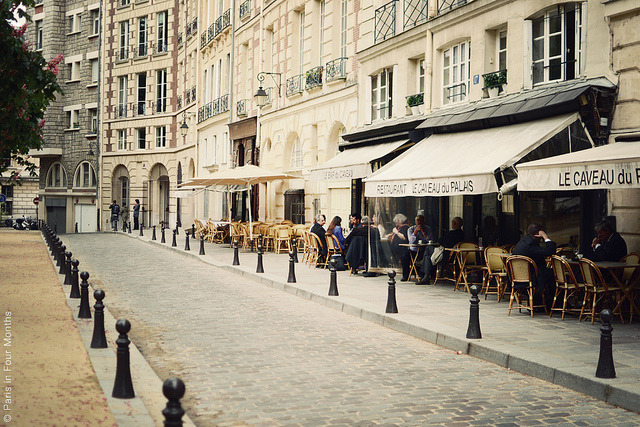 | ♕ |  Street cafes at Place Dauphine - Paris  | by © Carin Olsson | via ysvoice