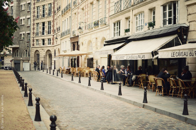 ysvoice:  | ♕ |  Street cafes at Place Dauphine - Paris  | by © Carin Olsson