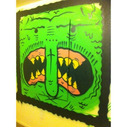 Trippy mane 🐲🐊#art #painting #illustration #wall