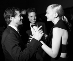 money-matrimony:  Hugh Dancy, Eddie Redmayne and Carey Mulligan at the 2013 Met Gala After-Party