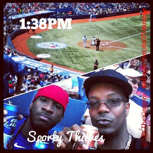 GO BLUE JAYS!!! We in here sonnnnnnnn! @biggsteevo - #Toronto #BlueJays #RogersCentre (at Rogers Centre)