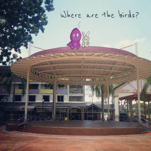 Bird viewing galleria at Toa Payoh Lorong 4 #doodle #doodleart #sketch #drawing #draw #illustration #dino #bunny #birds #sg #toapayoh