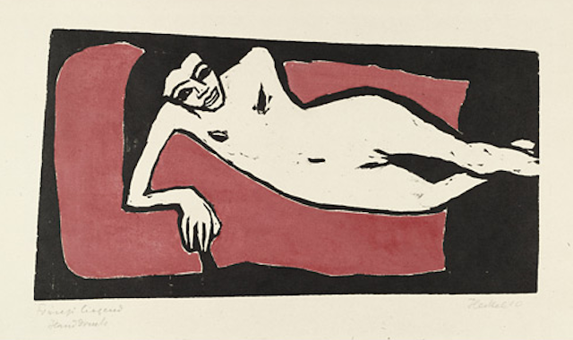 Fränzi Reclining by Erich Heckel