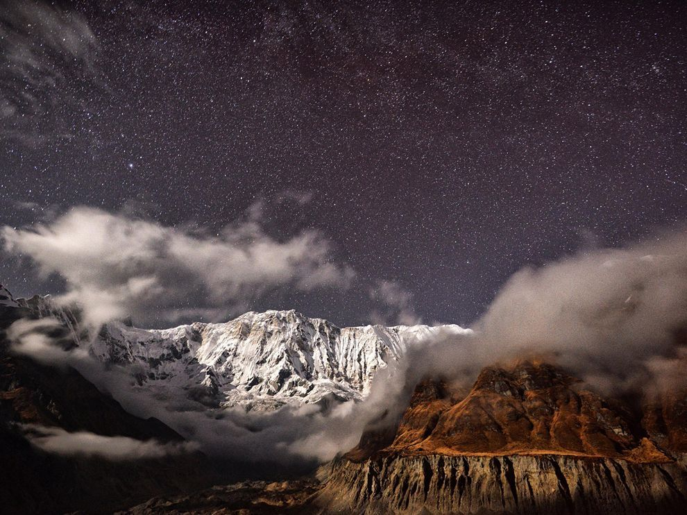 Moonlit Mountains, Nepal– National Geographic Photo of the Day