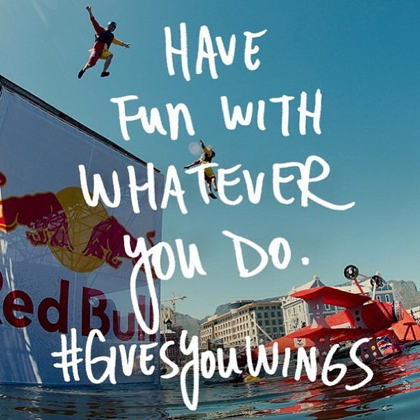 Solid advice, especially on a Monday #redbull #givesyouwings #americascup #rbyac #regram @redbull