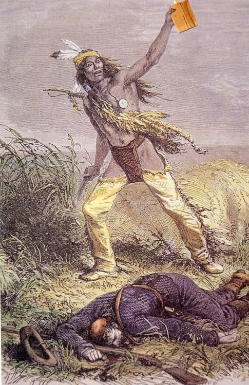 sikssaapo-p:  flasking:  Kills-With-Flask was the most feared Crow warrior on the plains.  dare I say racist?