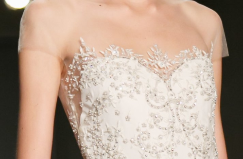 Reen Acra- sheer beaded wedding dress! divine!