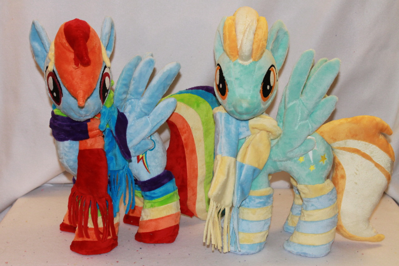 Rainbow Dash and Lighting Dust! They are for sale, together!  http://karasunezumi.deviantart.com/art/Rainbow-Dash-and-Lightning-Dust-371737688?q=gallery%3Akarasunezumi%2F31838511&qo=0  http://www.ebay.com/itm/171041392625?ssPageName=STRK:MESELX:IT&_trksid=p3984.m1555.l2649