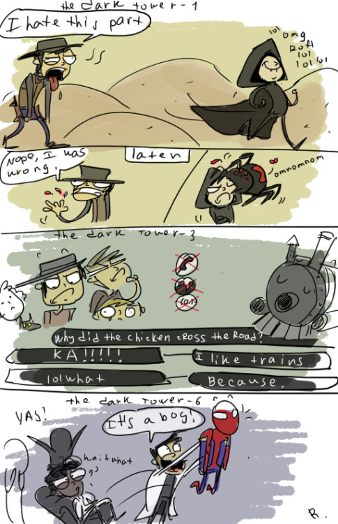 icarus-suraki:  The Dark Tower doodles, 2 by *Ayej I will always laugh.  I cannot help it.