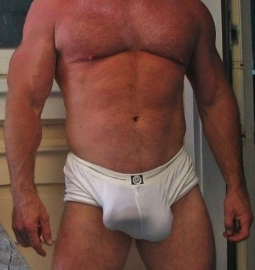 thedaddylist:  beautifuldaddybear:  This pretty big package!  He might need more support for that!