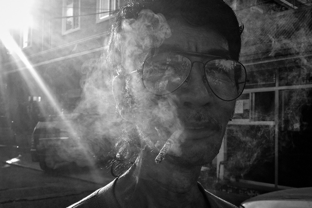 So I asked this guy if I could take a picture of him. Street Portrait - Mang Delfin (Shot using an iPhone 4S)