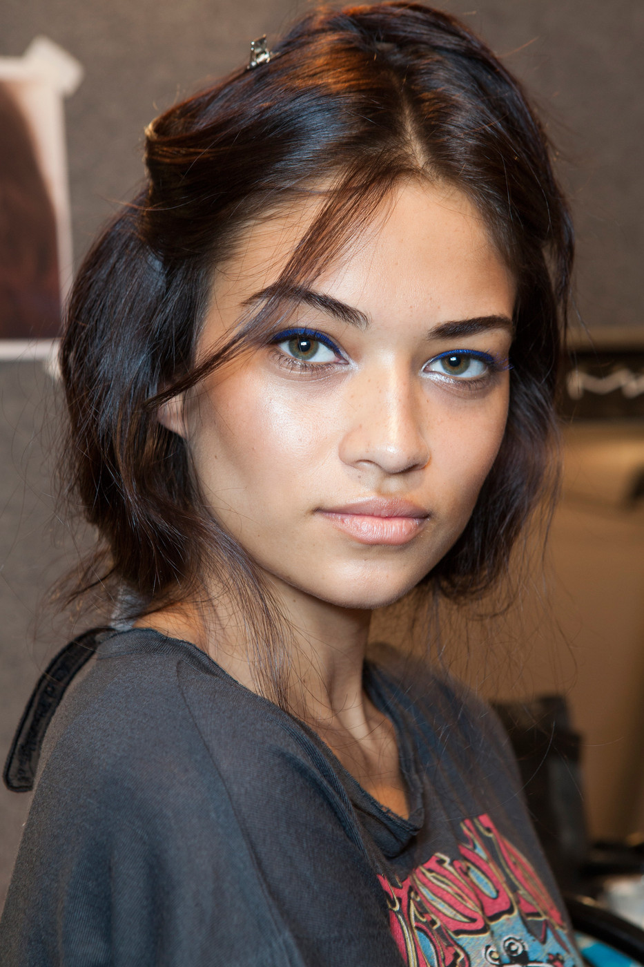 oncethingslookup:  Shanina Shaik backstage at Just Cavalli Spring 2013 RTW