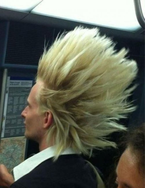 collegehumor:  Super Saiyan Spotted Out in Public His douchiness is over 9000!