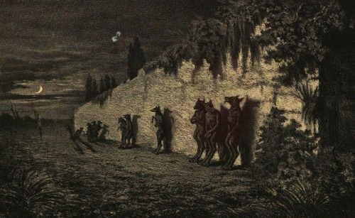 "Maurice Sand , Werewolves , (c.1852) Illustration for ""Légendes Rustiques"" by George Sand. via. Walrus -Ebook Studio-EPUB3"