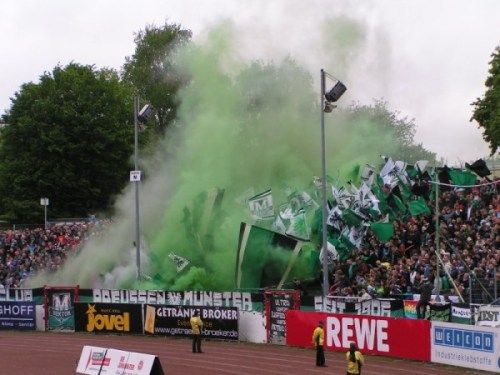 Preussen Munster vs Babelsberg, Germany (18.05.13) Follow us on Twitter: http://twitter.com/fan_kurve