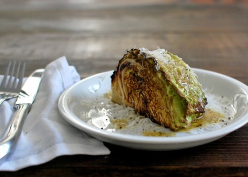 Roast Cabbage Wedge Salad