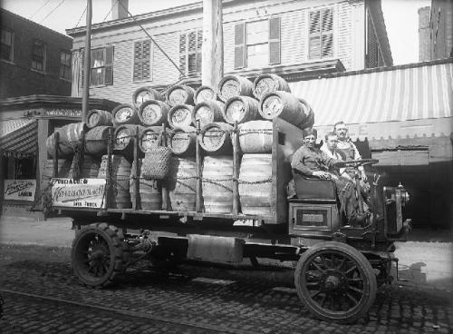 Hi Neighbor, check out this classic early 1900's 'Gansett beer wagon photo courtesy of the New Bedford Whaling Museum…this baby was built for speed.