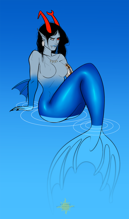 nyaonate:  mermaid!Mindfang for Winter Temporary Fandom Combat on diary.ru. (full size - X)