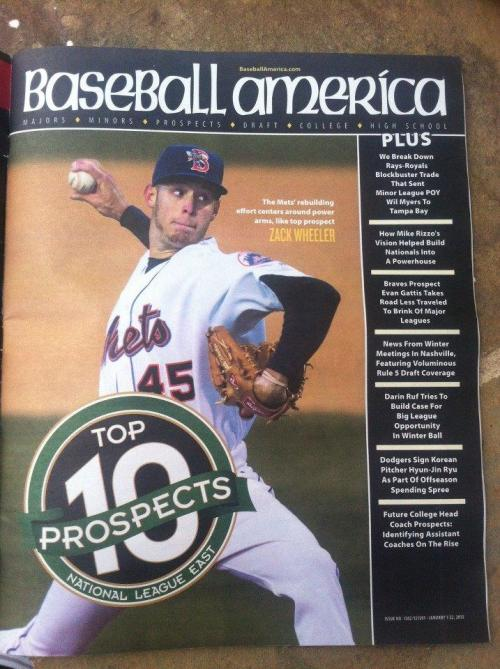 Mets top prospect @Wheelerpro45 is on the cover of Baseball America. (@Ben_Yoel)