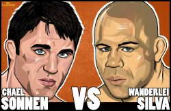 mmafanmade:  'The Gangster vs. The Axe Murderer' Grudge Match Artist: Adam Doyle