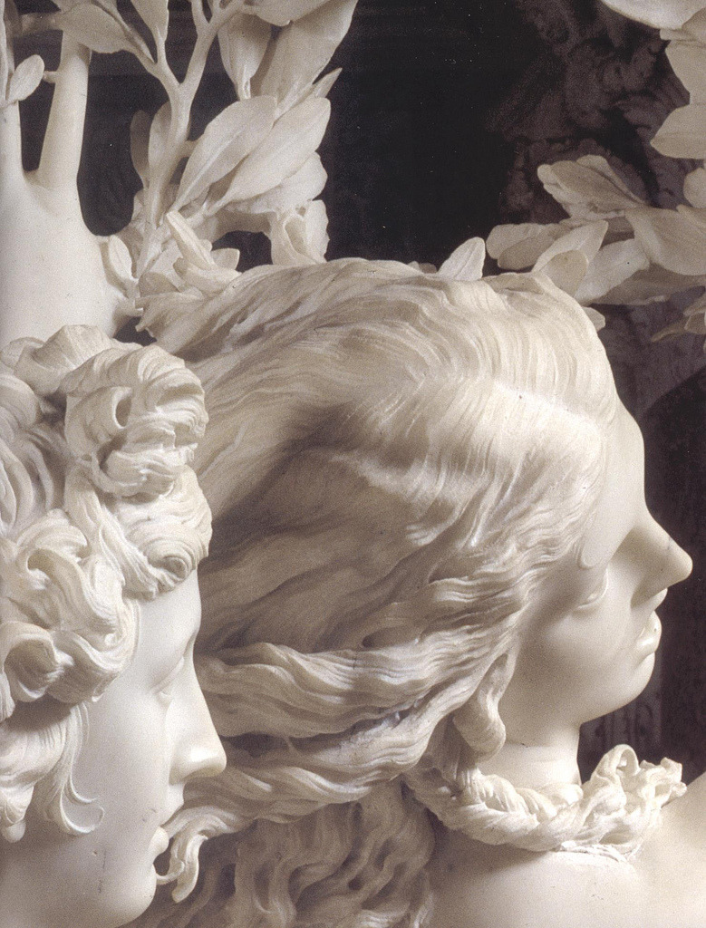unfond:  Bernini, Apollo and Daphne, detail, 1622–25.