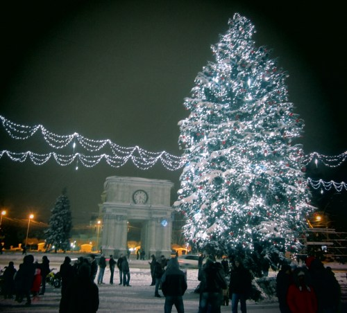 the Christmas tree of Chisinau