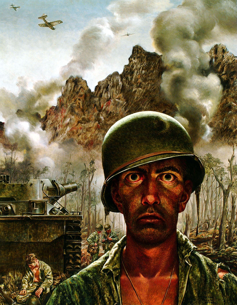 """The 2000 Yard Stare"", by Thomas Lea, 1944"
