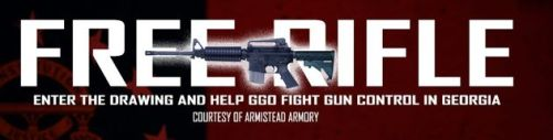 Gun enthusiasts: We're giving away a free AR-15 because FREEDOM! The worst part: They call it a rifle, but that's a picture of a carbine. Knowledge.