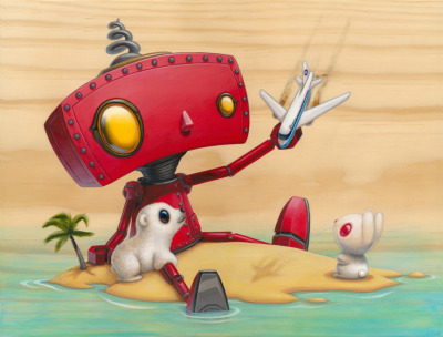 One of our favorite images from the Bad Robot show is now a limited edition giclee print. Only 35 made, and only $35. It's signed and numbered by the artist, Cudly Rigor Mortis, and we love it. http://nineteeneightyeight.com/products/cuddly-rigor-mortis-9-22-04-815-print