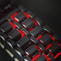 "Elusive, unassuming, yet profound… The ""Midnight Crimson"" LED timepiece: http://bit.ly/17K3WGi"