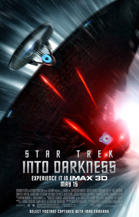inothernews:  Yikes. (New poster for Star Trek Into Darkness via CinemaBlend)