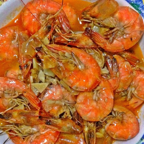 Garlic and butter Shrimp with taba ng talangka cook by me #foodstagramming