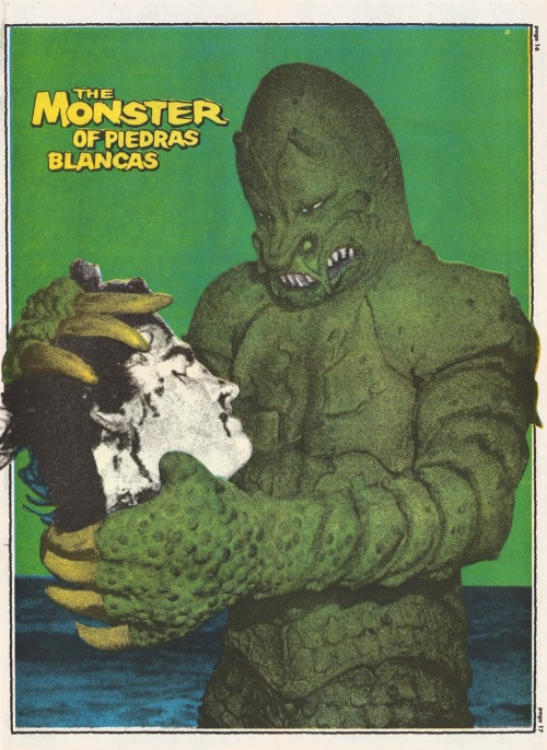 ronaldcmerchant:  The MONSTER FROM PIEDRAS BLANCAS (1958) poster from Monster Times magazine-1972