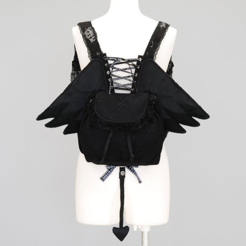 ghostintheforest:  H. Naoto Frill Angel Wings Rucksack acquired n_n