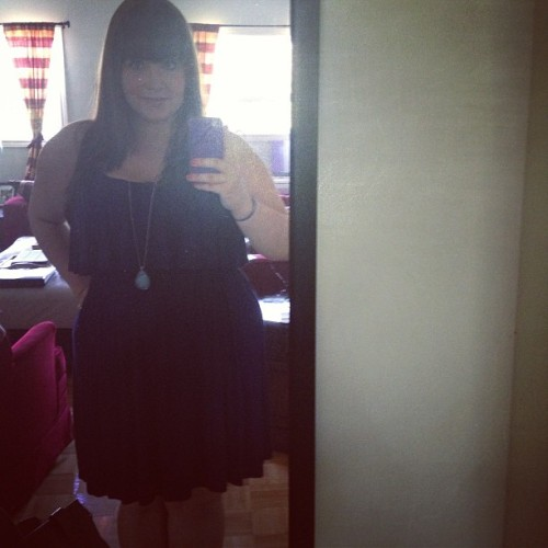 it was a summer dress kind of day. #summer #dress #selfie #weightwatchers #fitblr