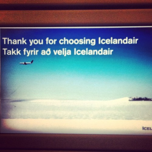 You're welcome. Reykjavik here I come! #yay