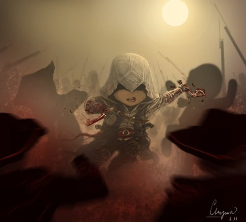theomeganerd:  Cute Assassin's Creed Artwork by chenjunnn