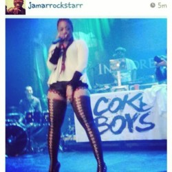 "@trinarockstarr ""GIRL U BE KILLIN EM!!!!"" #Fabulous voice."