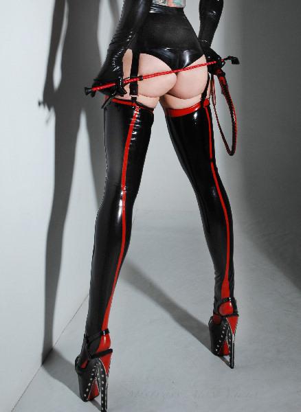Latex fetish heels