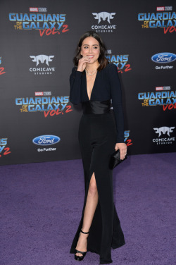 celebsofcolor:  Chloe Bennet attends the premiere of Disney and Marvel's 'Guardians Of The Galaxy Vol. 2' at Dolby Theatre on April 19, 2017 in Hollywood, California.