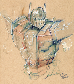 Scribbly Magnus in my new tan sketchbook. :>