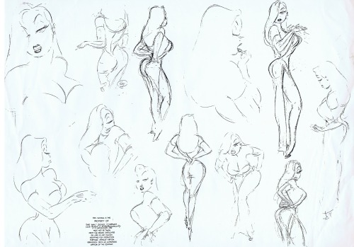 animationtidbits:  Who Framed Roger Rabbit - Jessica Rabbit Model Sheet