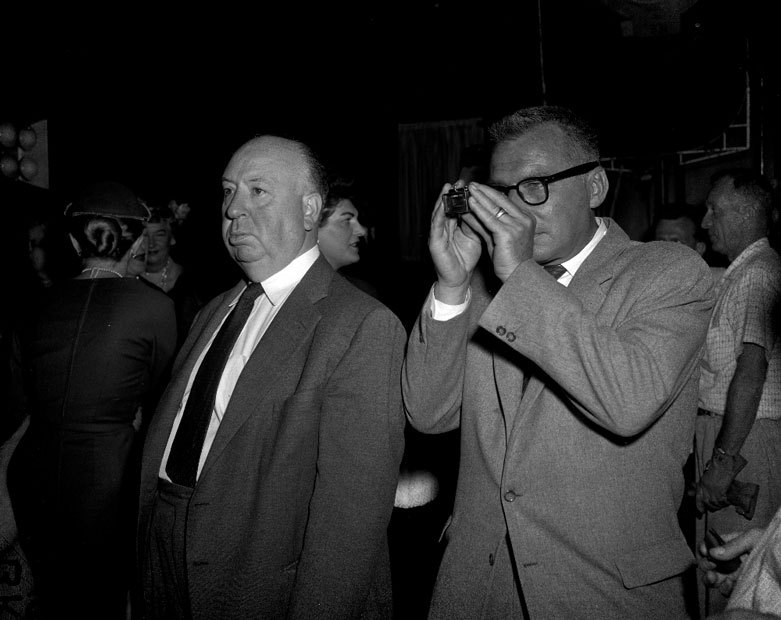 "Alfred Hitchcock and his favorite cinematographer, Robert Burks, frame a shot of North by Northwest.  In this 1965 interview, Hitchcock discusses - partly in French - ""La Mort aux Trousses"" (French title for ""North by Northwest""), and in particular the famous ""that's funny - he's dusting crops where there ain't no crops"" scene.  North By Northwest Script – 1958 shooting draft for reading pleasure.  Ernest Lehman's notes ""North by Northwest,"" the Hitchcock classic, as you've never seen it before Classic American Films: Conversations with the Screenwriters available from Amazon."