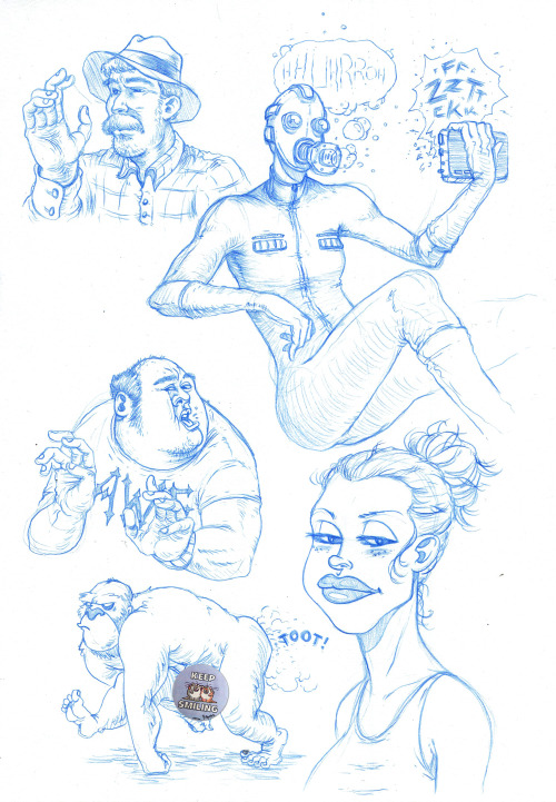 sketchbook 2013 - first baseball watching doodles of the season