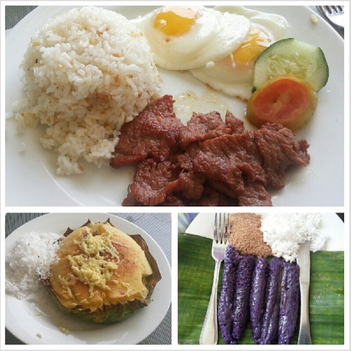 Pinoy breakfast (at Royale Tagaytay Country Club)