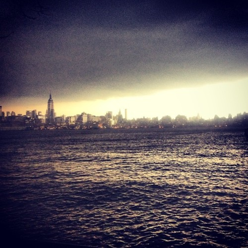 Storm clouds over #nyc