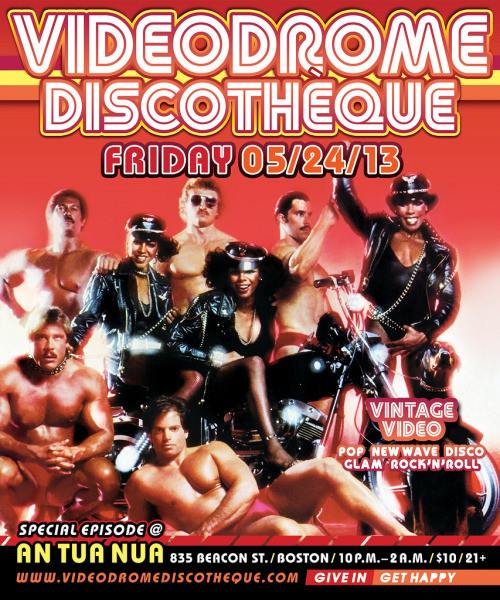 "This Friday FRIDAY May 24th Videodrome Discothèque Episode 88: ""Hot Date"" Sparks Into Life at An Tua Nua in Boston!!! We Return To OBERON In June After Their BEOWULF Run Concludes. For May, We're Taking Over BOTH ROOMS Of An Tua Nua!!! Dance To The Finest in Vintage Pop, New Wave, Disco, Glam, Hi-NRG, & Rock'N'Roll!! Dazzle At The Rare & Strange Video Delights!!! Drink In The Wonder of the Videodrome Discothèque Custom Cocktail Menu!!! Share The Rock Love!!! Feel Disco Good!!!  10PM Start - 2AM Close / $10.00 Door / 21+Give In Get Happy!!! Stay tuned to Videodrome Discothèque for videos, party photos, & information on special events! FACEBOOK: http://www.facebook.com/videodrome YOUTUBE: http://www.youtube.com/user/VideodromeDisco VIMEO: http://vimeo.com/user9844933 TWITTER: http://twitter.com/#!/VideodromeDisco BLOG: http://craigmacneil.tumblr.com/ Videodrome Discothèque Episode 88: ""Hot Date"" FRIDAY MAY 24th (by Videodrome Discothèque)"