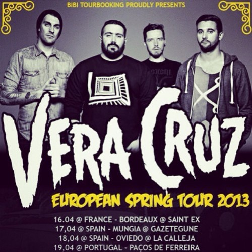 veracruztheband:  Come check us on tour starting tomorrow!  Tonight : Saint Ex @ Bordeaux